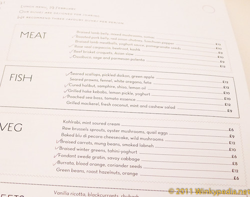 menu at Nopi