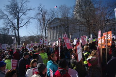 Wisconsin Protesters Unite at Capitol Building