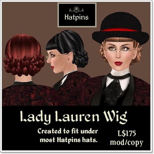 Hatpins - Lady Lauren Wig