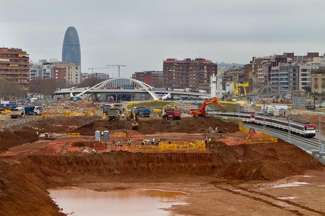 Pont del Treball - Sur - Trabajos arqueológicos14-03-11