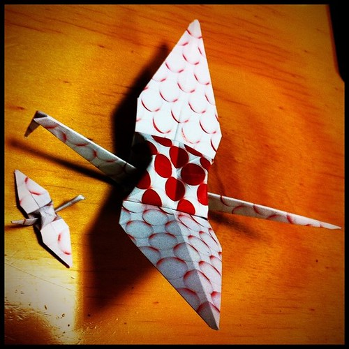 Mum & bub, made a little one to go with the earlier #1000cranes