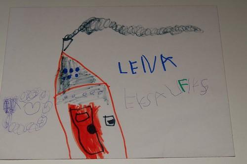 """Lena schrijft """"ik zal flink zijn"""""""