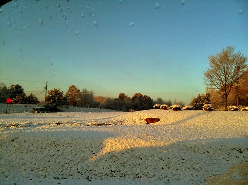 A quick picture of the passing snow