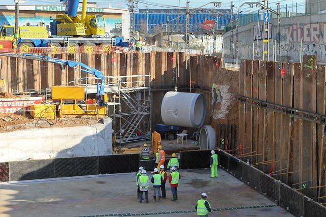 Hinca de tubos de hormigón - Vista general - 16-02-11