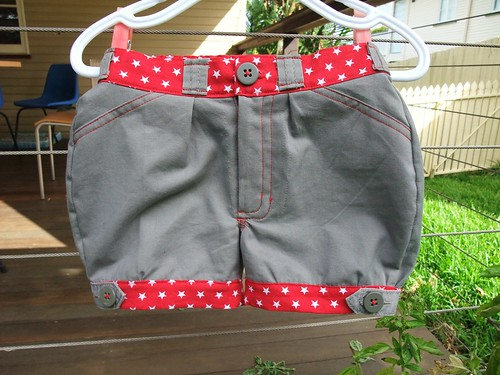 Little Star Upcycled Shorts - Front