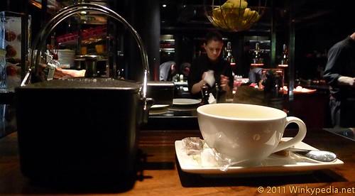 Fresh mint tea at L'atelier de Joel Robuchon