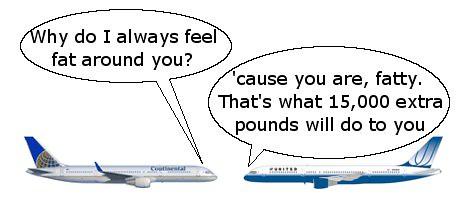 United vs Continental 757