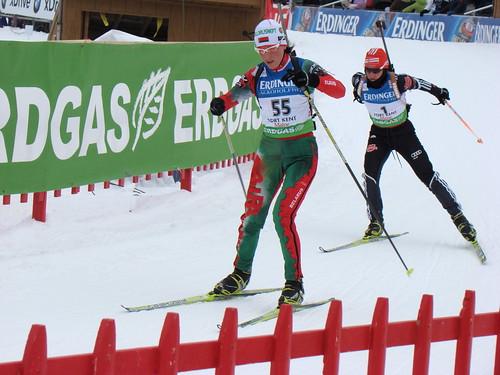 1-Andrea Henkel (took 1st) warming up