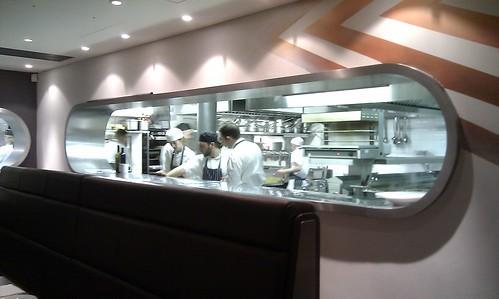 Fifteen restaurant kitchen