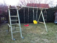 Gartenprojekt Holzschaukel