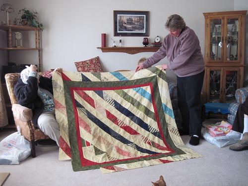 Pat's original diagonal stripes