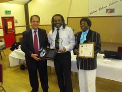 Neighbourhood  Manager receiving award