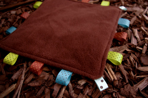 Taggie Blanket - fleece side