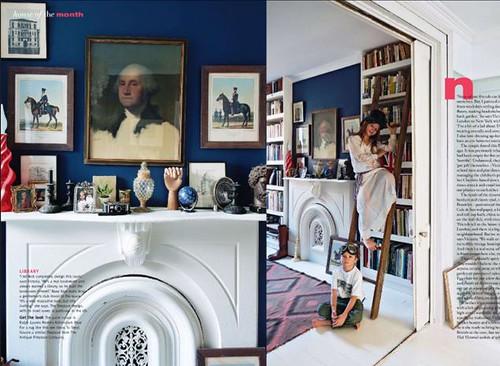 navy blue living room Living Etc