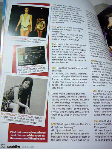 Aimee Lee Lucas feature in Sparkling magazine