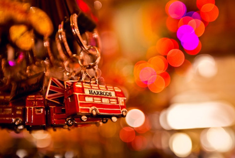 Harrods Double Decker Bus & bokeh