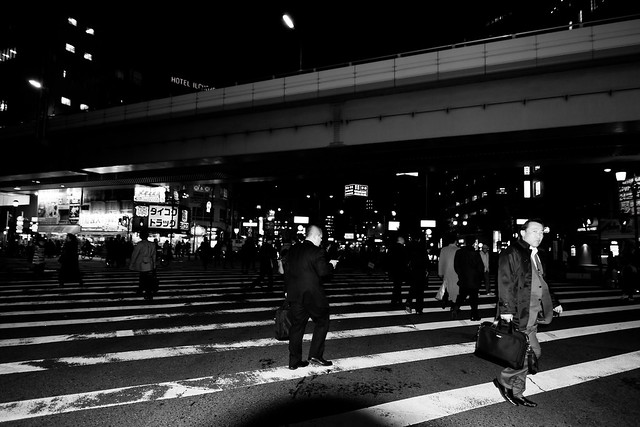 Japan Street Photography candid people black white