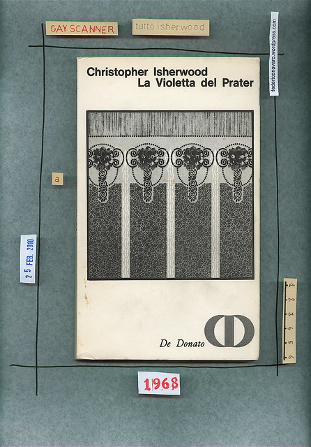 Christopher Isherwood, La violetta del Prater, De Donato 1968. Copertina