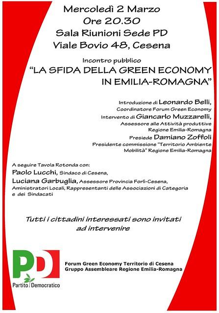 """""""LA SFIDA DELLA GREEN ECONOMY IN EMILIA-ROMAGNA"""""""