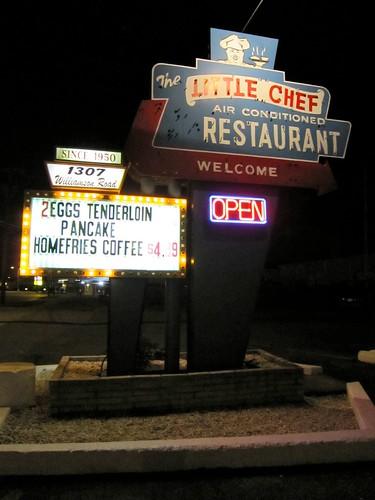 Little Chef Restaurant Roanoke VA Sign