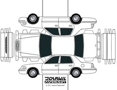 JCARWIL PAPERCRAFT 2000 Ford Crown Victoria (jcarwil) Tags
