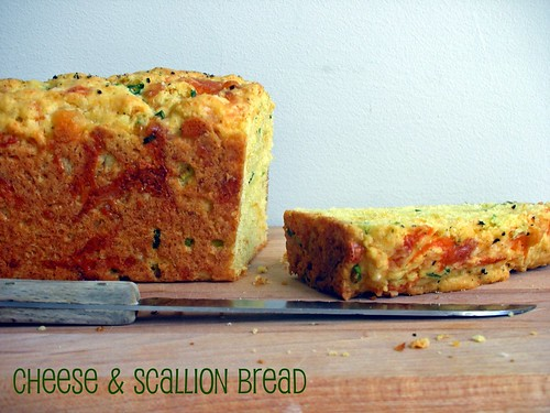 savory cheese and scallion bread