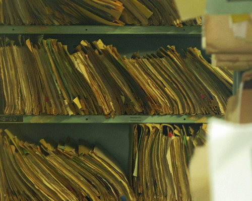 Paper files of medical records