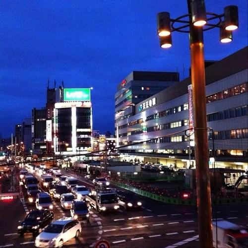 夜の交差点… みなさん、今日もお疲れ様でした。また明日! (( _ _ ))..zzzZZ #Osaka #Abeno #night