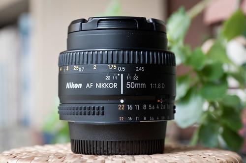 Nikon AF 50mm f/1.8D (enfoque a 0,5 m)