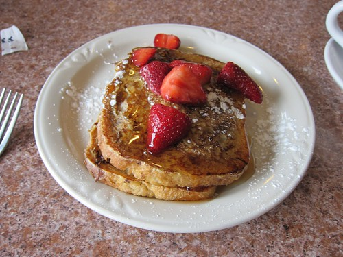 Nutella & Strawberry Stuffed French Toast @ Cafe Eclectic