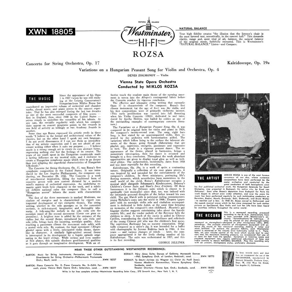 Miklós Rózsa - Rozsa Conducts Rozsa