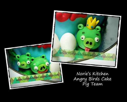 Norie's Kitchen - Angry Birds Cake - Pig Team