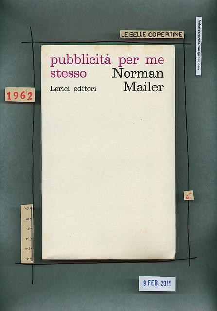 Norman Mailer, Pubblicità per me stesso, Lerici 1968. Copertina (part.)