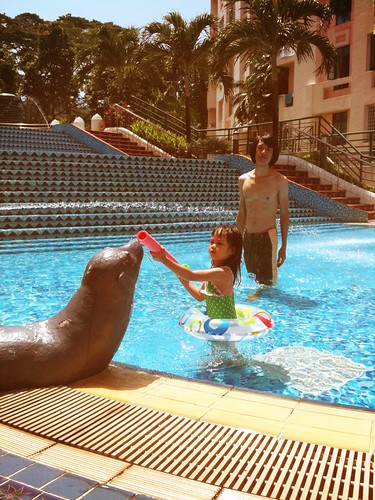 swimming at oscar's