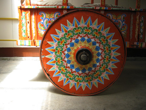 Carreta - a traditionally painted oxcart used to transport coffee