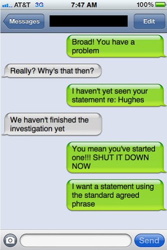 Txts from New York - Helen and Howard chat