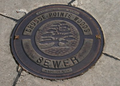 Grosse Pointe Woods Manhole Cover