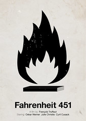 'Fahrenheit 451' pictogram movie poster