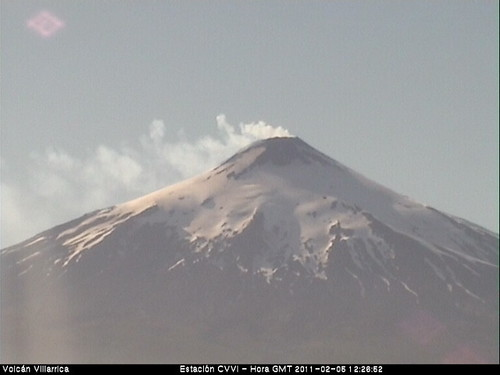 UFO Sighting over Volcano Villarrica, Chile of...