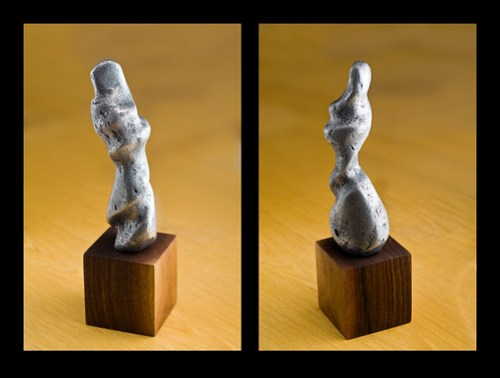 "Photo of lost wax aluminum sculpture: ""Mother and child"""