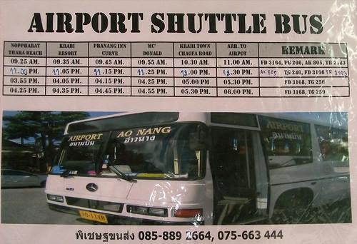 Расписание автобуса Ао Нанг-Аэропорт