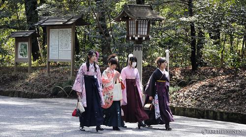 Kimono girls 明治神宮 東京 日本、Tokyo Japan