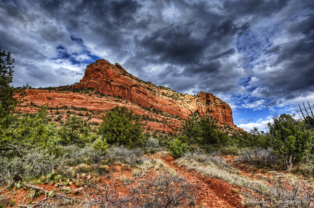 Sedona - Clouds and Red Rocks