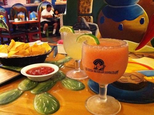 Peach margarita from Los Reyes, Memphis, TN