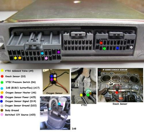 small resolution of pics of completed vtec obd1 p72 ecu wiring honda tech honda obd0 to obd1 conversion wiring harness obd1 vtec wiring