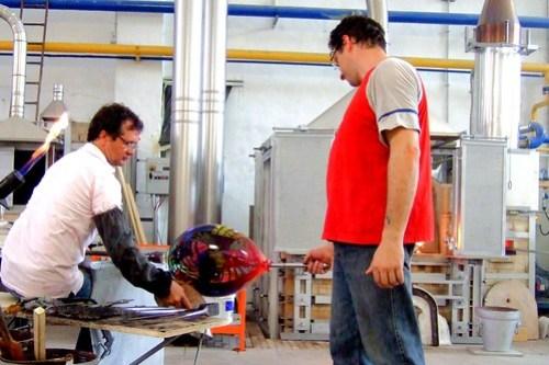 Master glassmakers in Murano