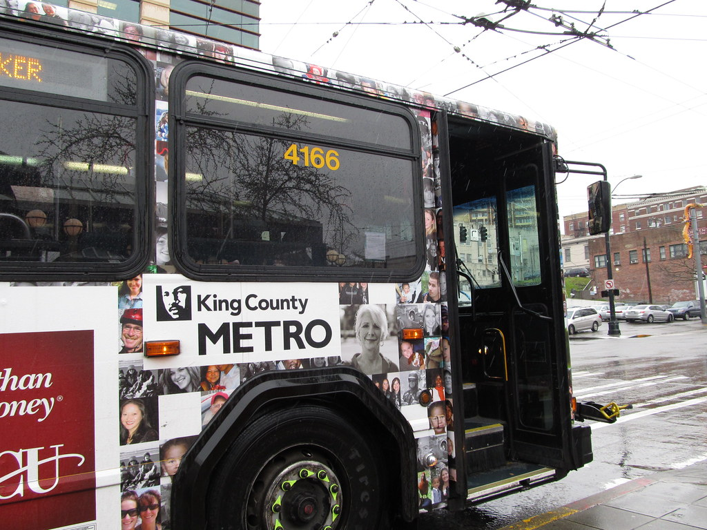 hight resolution of king county metro 2001 gillig phantom trolley 4166 becu wrap zargoman tags