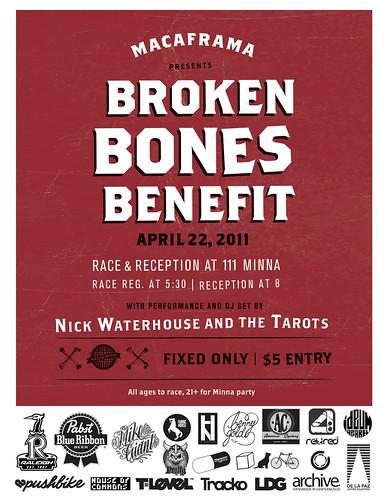 MACAFRAMA BROKEN BONES BENEFIT 4/22 by Dylan Bigby