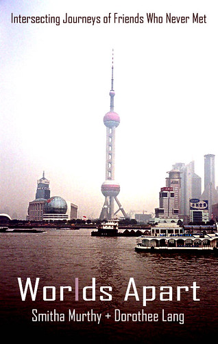 book cover showing harbor with ships and skyscrapers