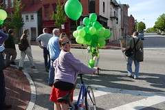 Crossing Baltimore Street on the West Baltimore Squares Spring Walk